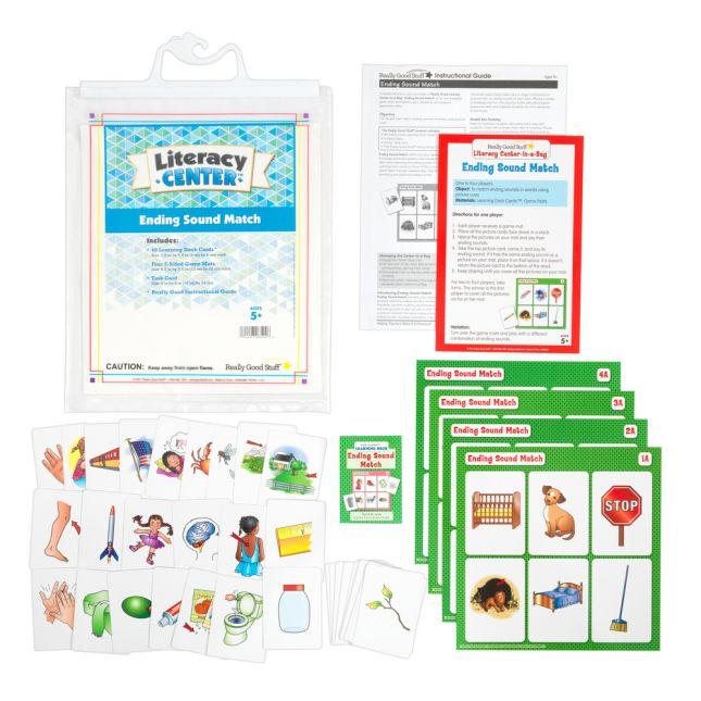 Ending Sound Match Literacy Center™ - 1 literacy center