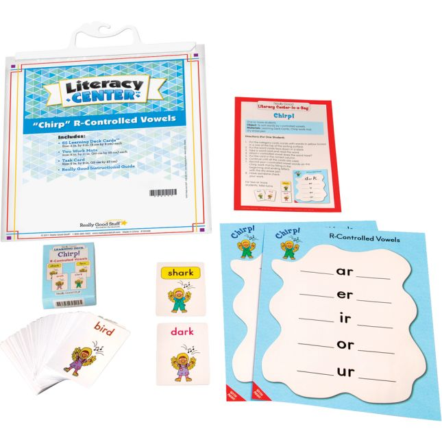 """Chirp"" R-Controlled Vowels Literacy Center™ - 1 literacy center"