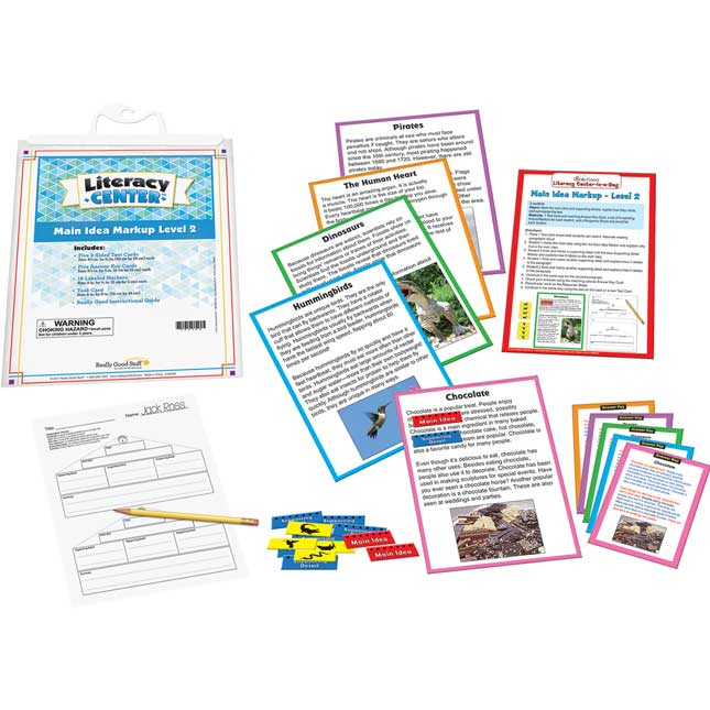 Main Idea Markup Level 2 Literacy Center™