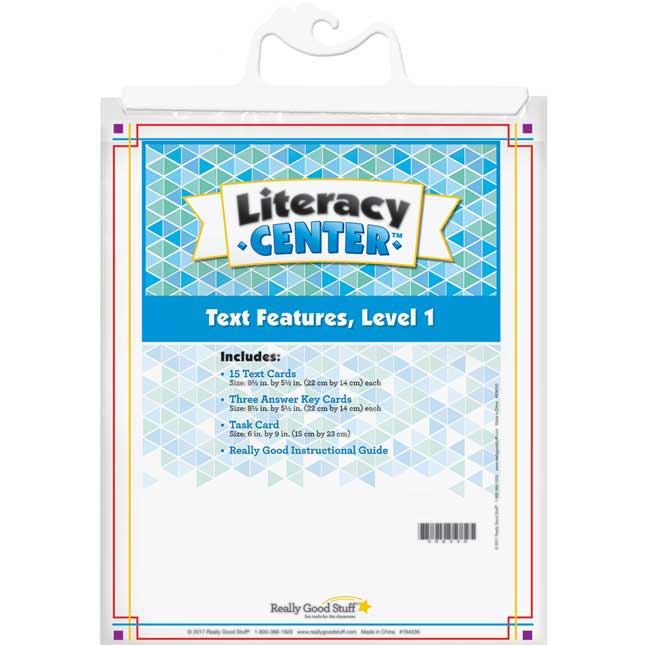 Text Features Level 1 Literacy Center™
