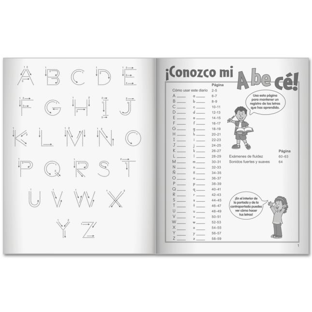 Mi libro de ABECÉ (My Spanish ABC Book) - 12 journals