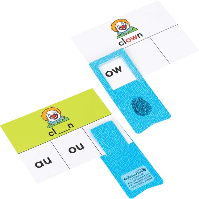 Diphthong And Tricky Vowel Cards And Clips - 45 cards, 6 clips