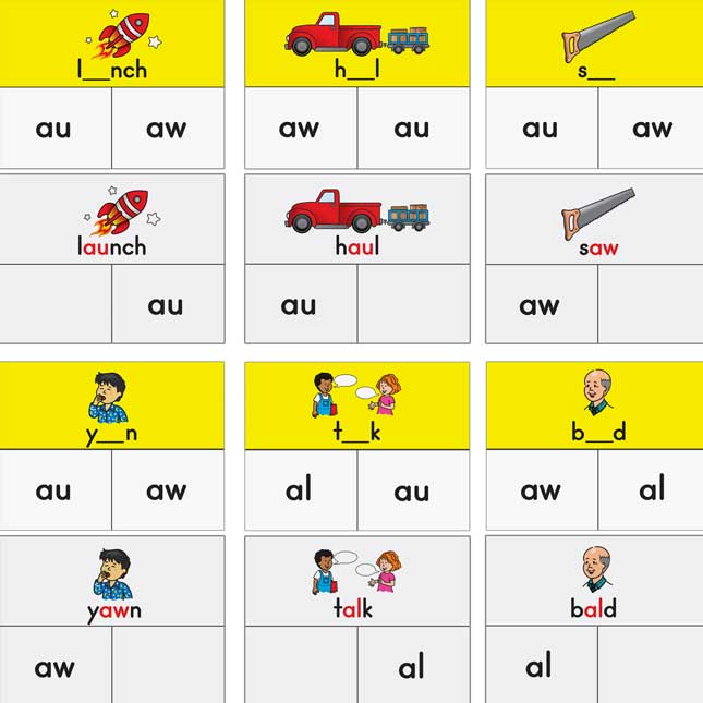 Diphthong And Tricky Vowel Cards And Clips