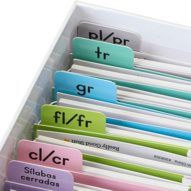 Libritos de sÍlabas compuestas (Spanish Advanced Syllable Flip Books) - 30 flip books
