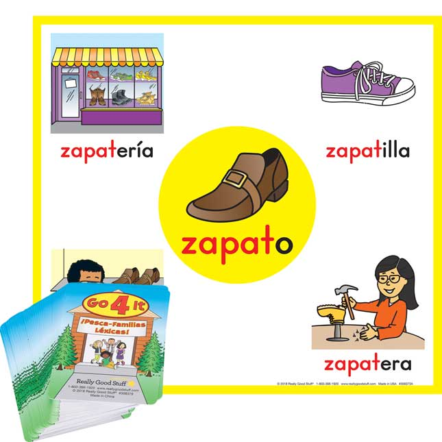 Spanish Word Family Banners And Go For It Card Kit
