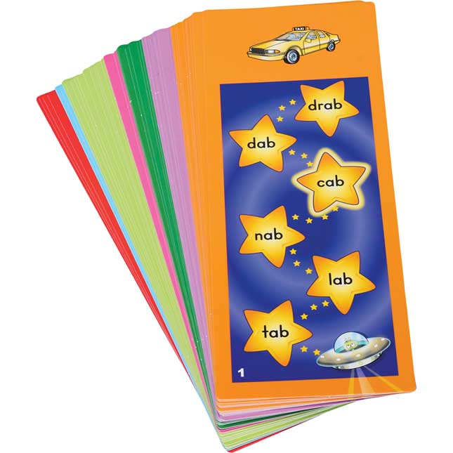 Tap-A-Word™ Phonics Cards: Word Families, Blends, And Digraphs - 46 cards