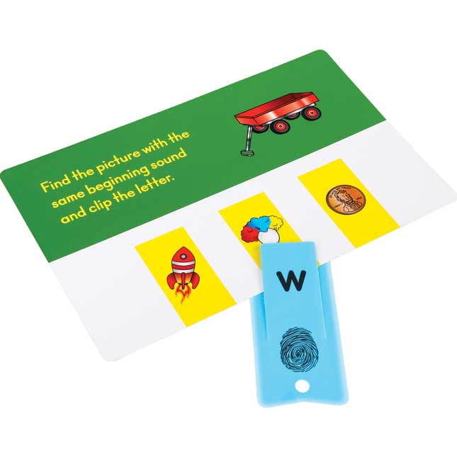 Alphabet Clips Task Cards