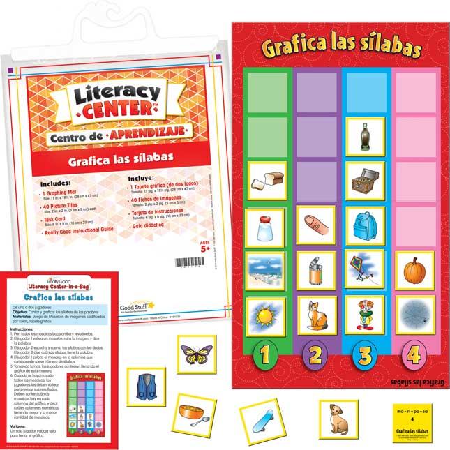 Centro de aprendizaje Grafica Las Silabas Spanish Graph The Syllables