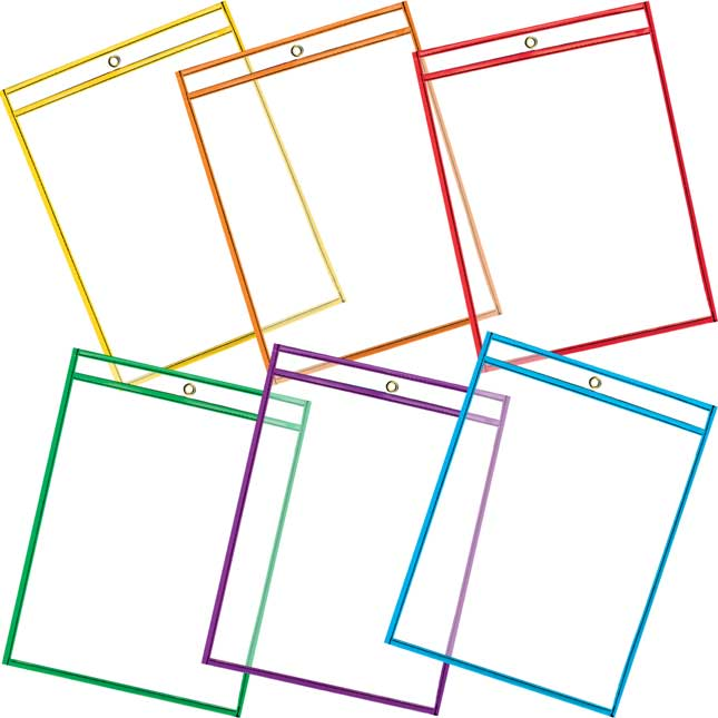 Re-Markable™ Dry Erase Sleeves - 6 Colors