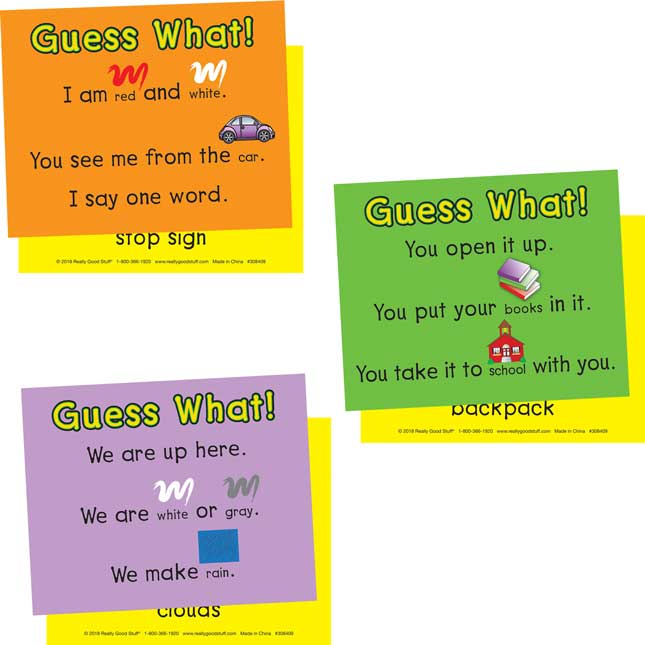 Guess What! Sight Word Riddle Cards - 31 cards