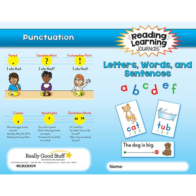 Reading Learning Journals™ - Letters, Words, And Sentences - 24 journals_1