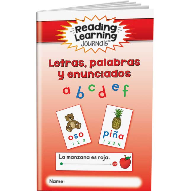 Reading Learning Journals™ - Letras, palabras y enunciados (Spanish Letters, Words, And Sentences)