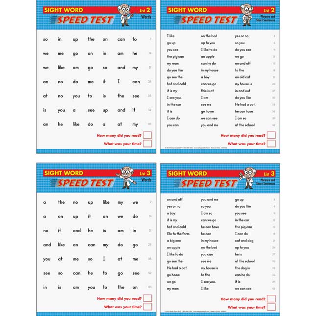 Sight Word Fluency Drills And Assessment Kit