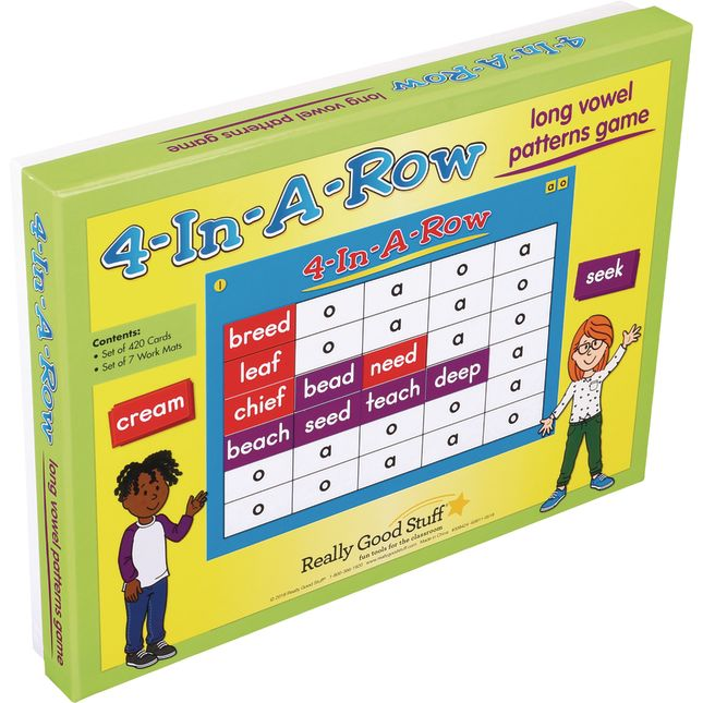 4-In-A-Row: Long Vowel Patterns Game