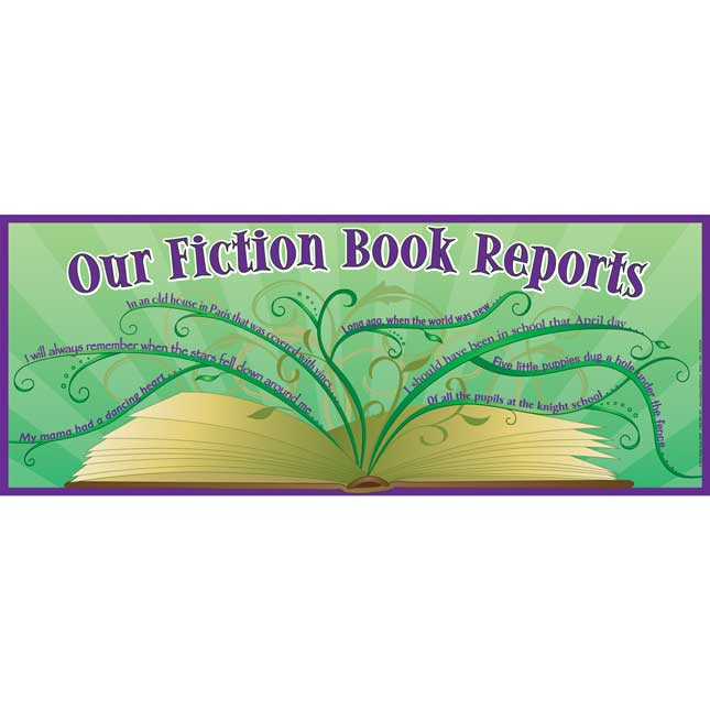 Our Fiction Book Reports Banner