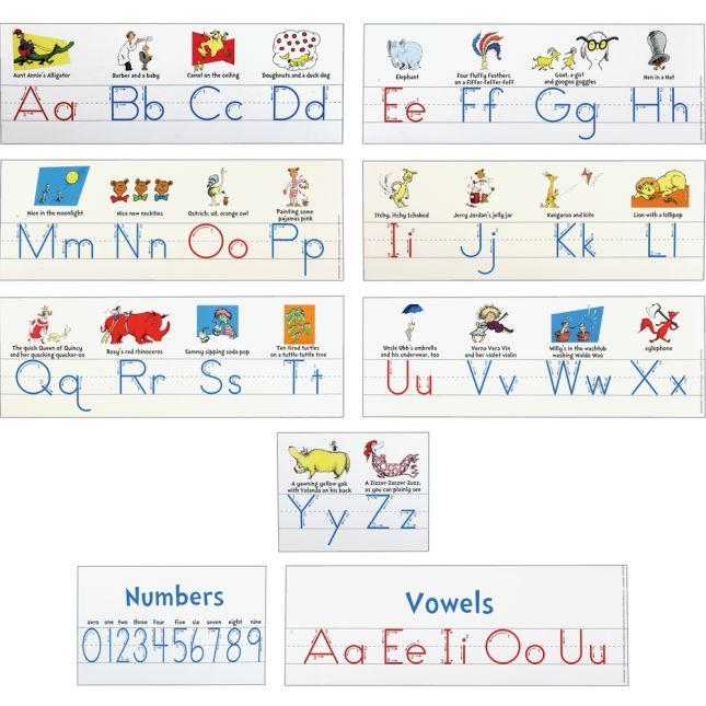 Dr. Seuss™ Alphabet Line - 9 piece set