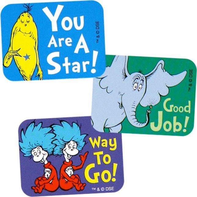 Dr. Seuss™ Success Stickers - 120 stickers