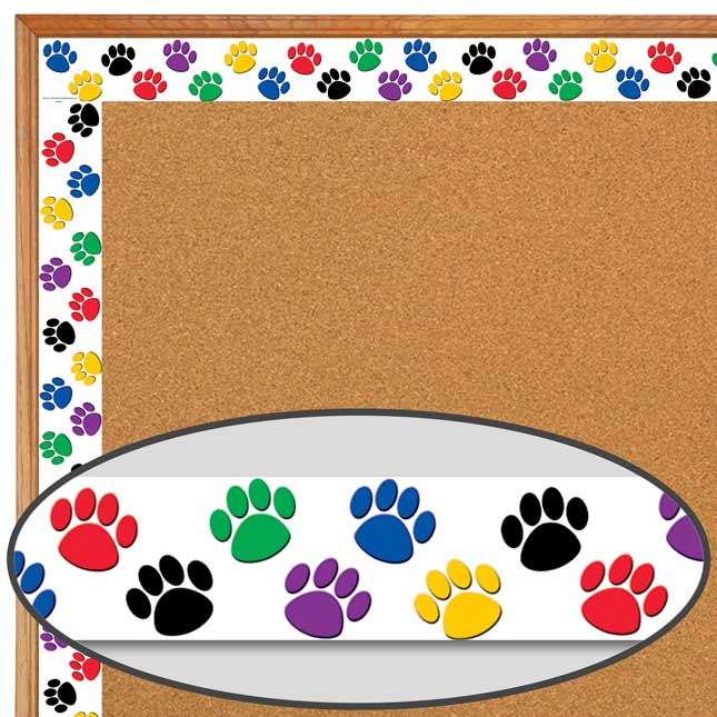 Colorful Paws Deco Trim