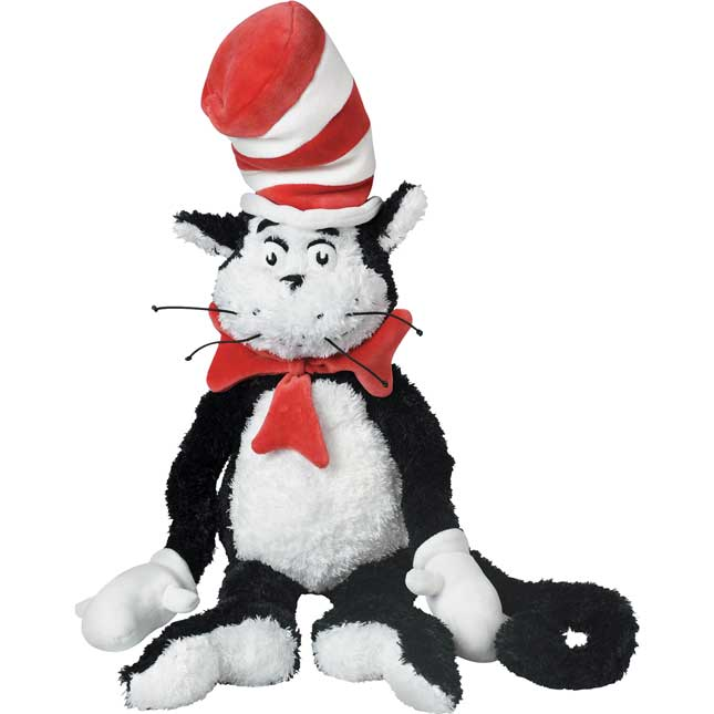 "Cat In The Hat™ -  28"" Large Plush - 1 plush cat in the hat"