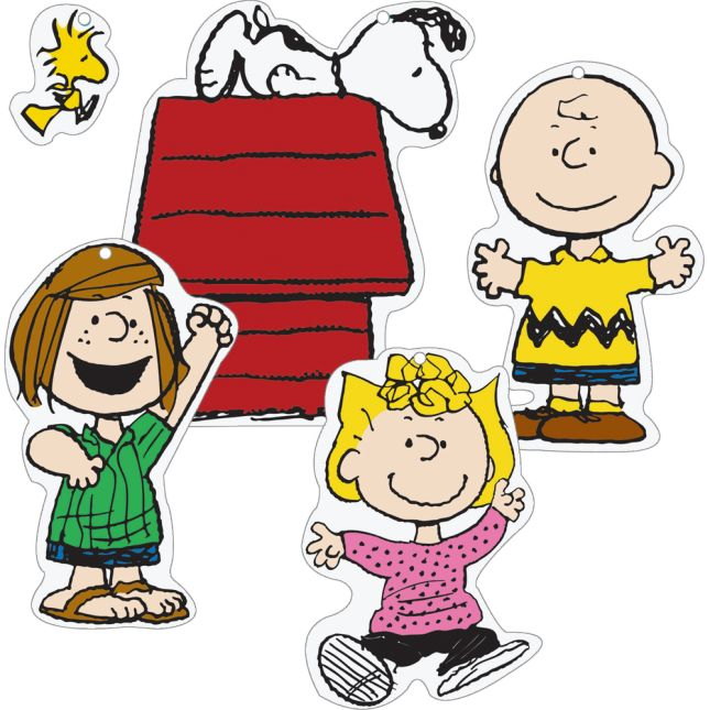 Peanuts® Classic Characters 2-Sided Deco Kit - 15 pieces