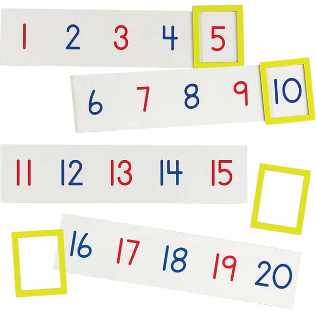 1-100 Magnetic Number Line