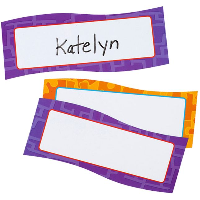 Magnetic Dry Erase Name Plates
