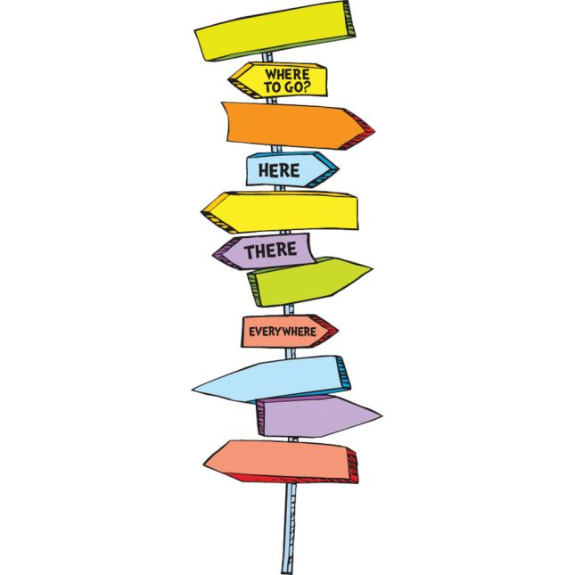Dr. Seuss™ Blank Directional Signs Bulletin Board Set