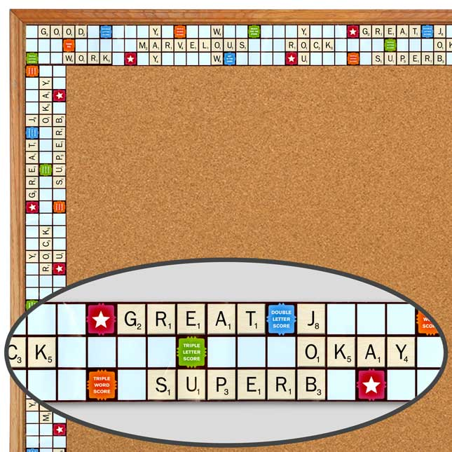 Scrabble™ Letters Extra-Wide Diecut Deco Trim
