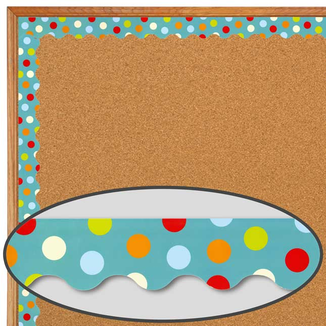 Poppin' Patterns® Dots On Turquoise Trimmer And Accents