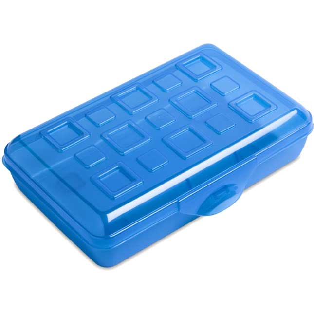 Pencil Storage Boxes - Blue/Blue - 6-Pack