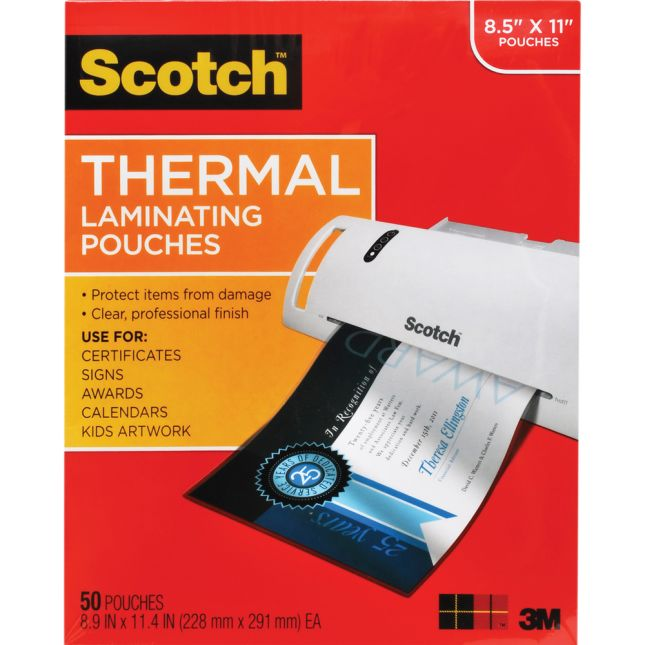 Scotch™ Thermal Laminating Pouches, Letter Size - 50ct