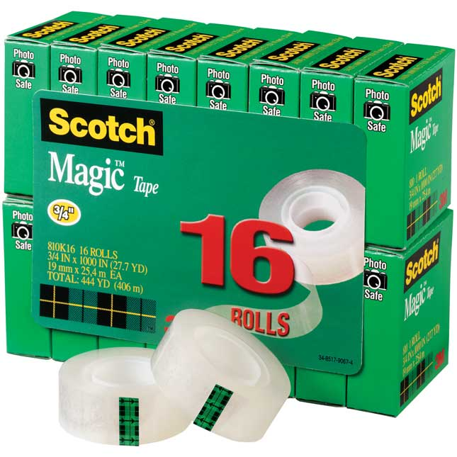 "Scotch® Magic™ Tape ¾"" By 1,000"" - 16 Pack"
