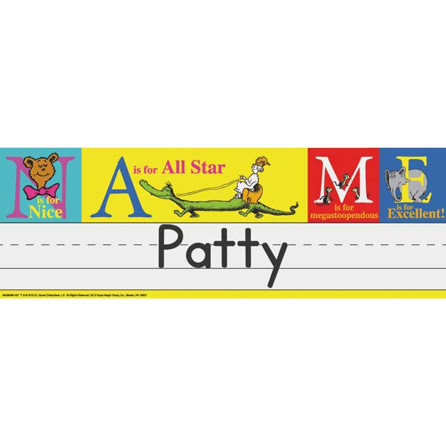 Dr. Seuss™ ABC Tented Name Plates