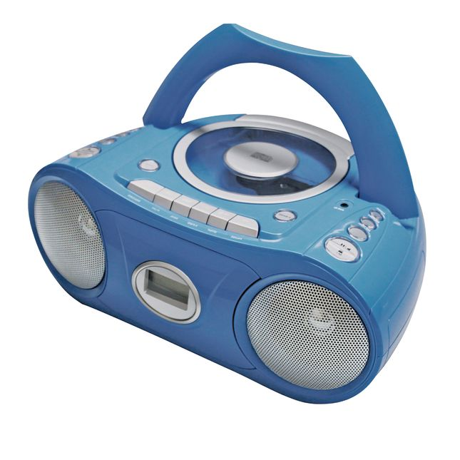 Portable Bluetooth® CD Player With Cassette And FM Radio Boom Box