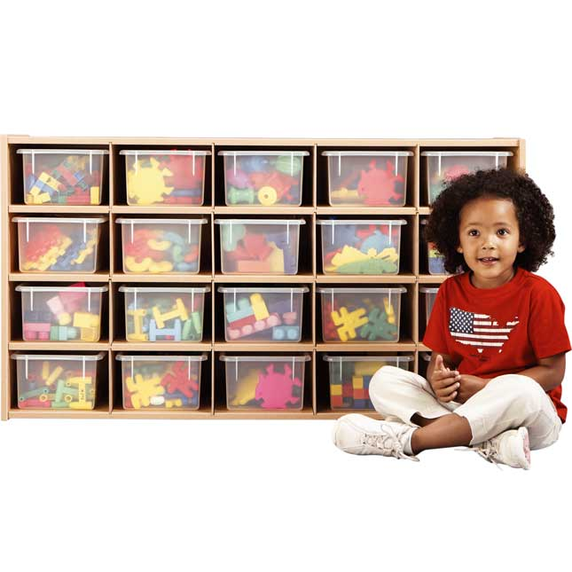 20-Cubby Storage Cabinet (Bins Not Included)