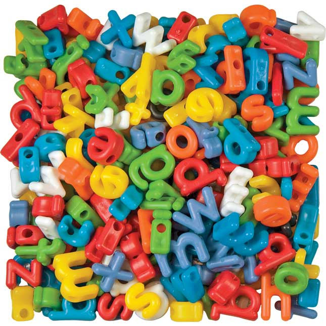 Manuscript Letter Beads Lowercase - 288 letter beads