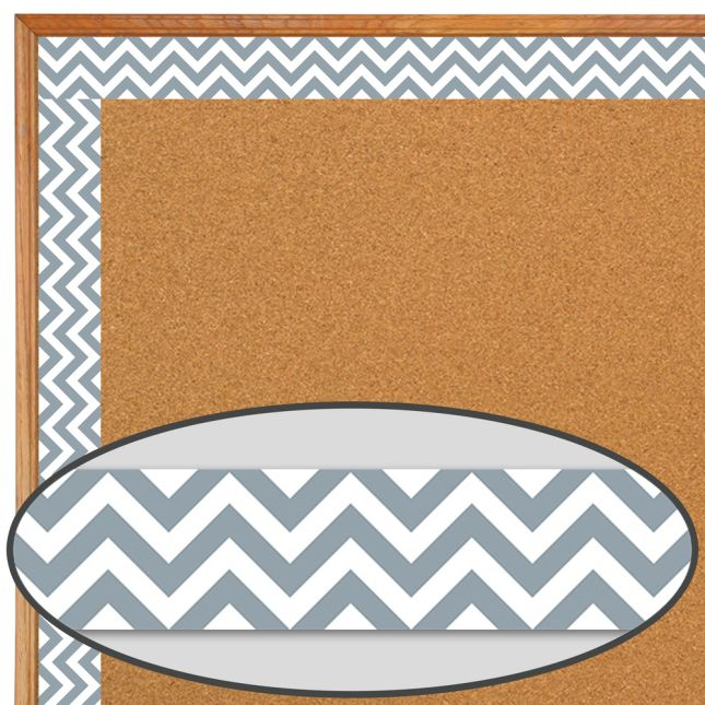 Slate Gray Chevron Border Trim
