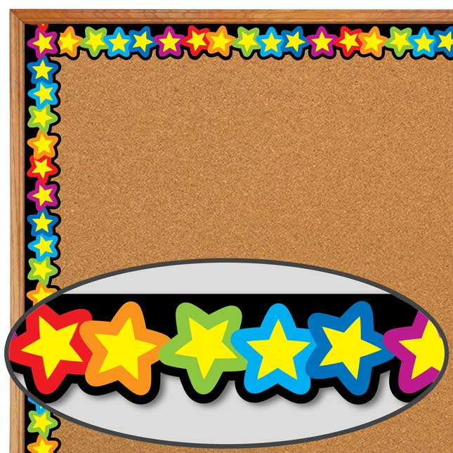 Rainbow Of Stars Border
