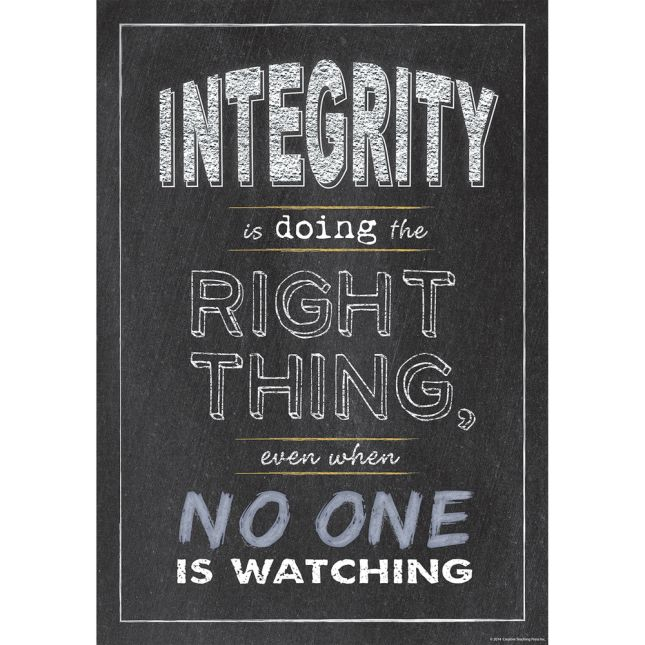 Inspire U Poster - Integrity - 1 poster