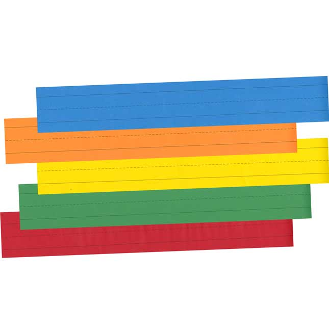 Sentence Strips - Primary Assorted Colors