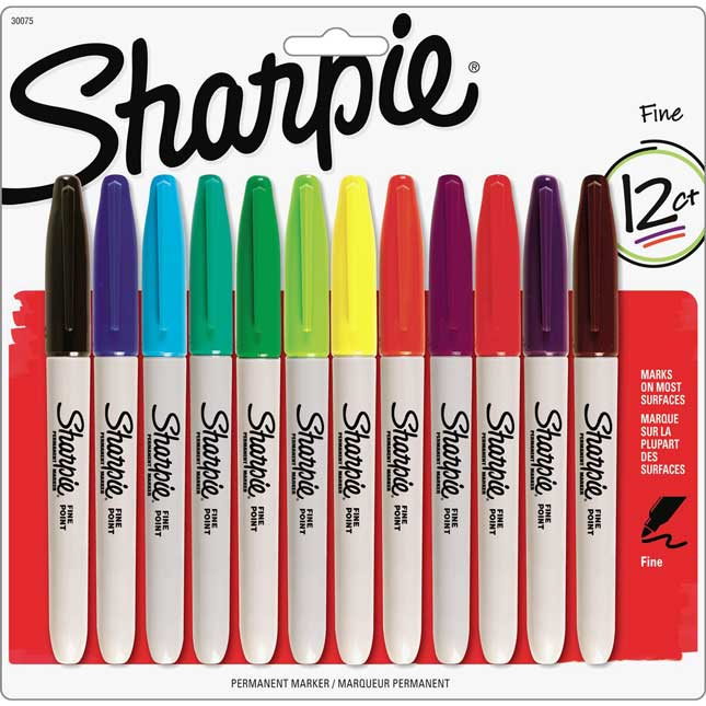 Sharpie® Fine Point Permanent Markers Assorted - 12 Pack