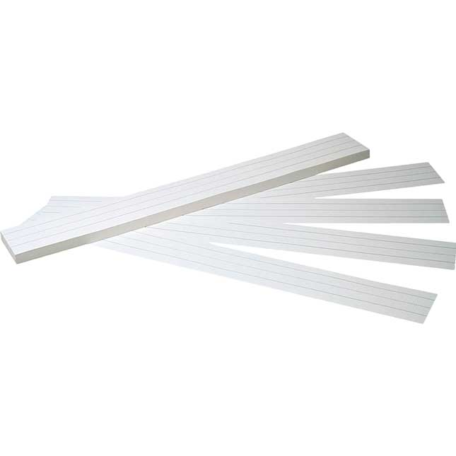 "Bright White Tag Sentence Strips - 24"" X 3"""