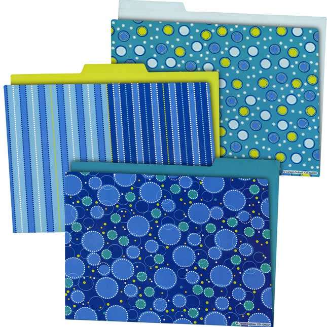File Folder Storage Pocket Chart And Folders Set - Lime Green