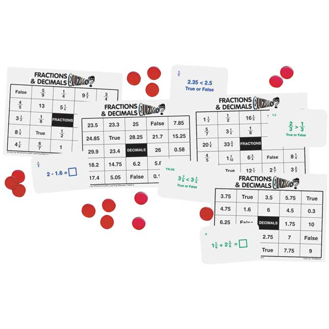 QUIZMO Fractions And Decimals Game
