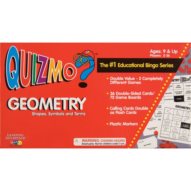 QUIZMO Geometry - Shapes, Symbols And Terms Game - 1 game