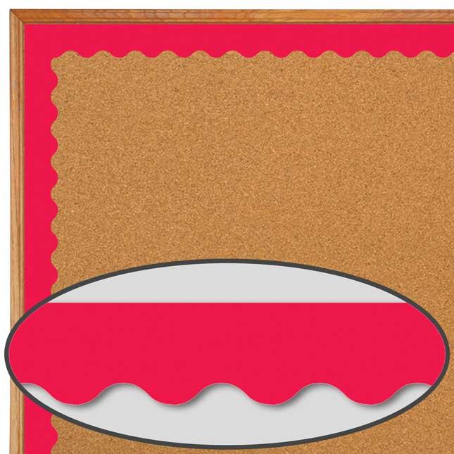 Poppy Red Wavy Border Trim