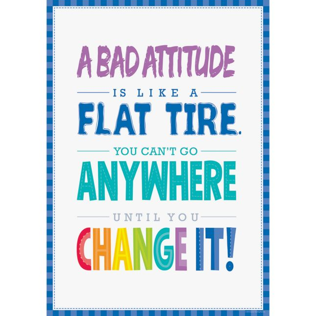 Inspire U Posters - A Bad Attitude Is...