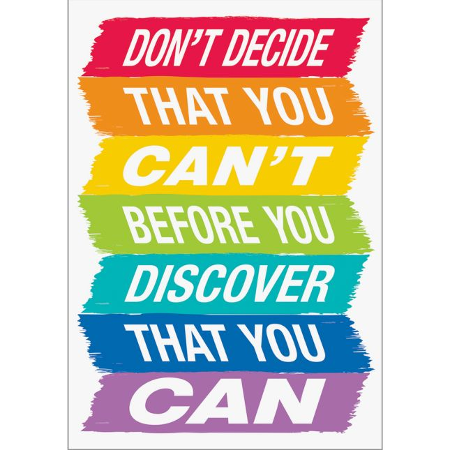 Inspire U Posters - Don't Decide That You Can't...