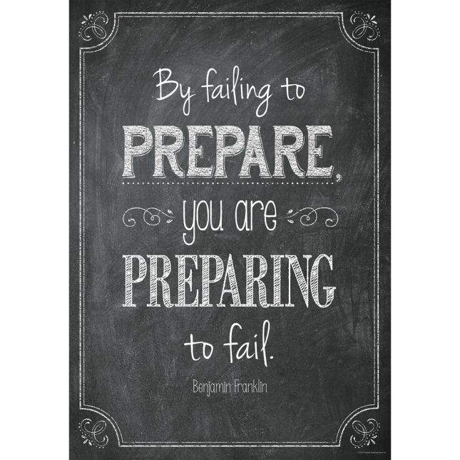 Inspire U Posters - By Failing To Prepare... - 1 poster