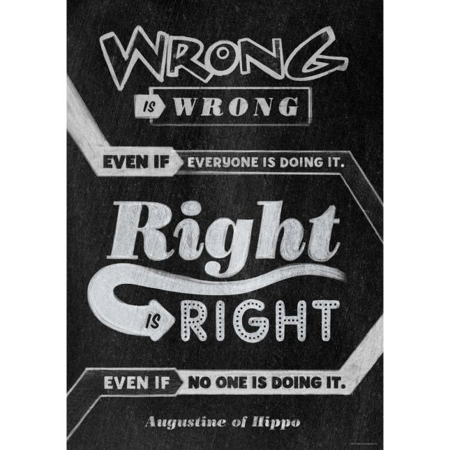Inspire U Posters - Wrong Is Wrong Even If...